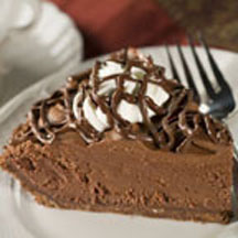 Chocolate Lover's Chocolate Mousse Pie