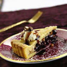Port and Black Macerated Cherry Tart