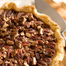 Southern Pecan Pie with Toffee Crunch