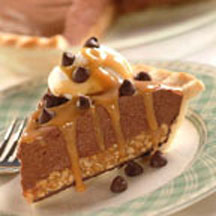 Tin Roof Chocolate Pie with Pecan Crust