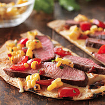 Grilled Tequila Steak Pizza