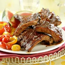 BBQ Baby Back Ribs with Spicy Dry Rub and Mop Sauce