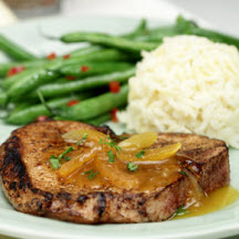 Apricot-Maple Glazed Pork Chops