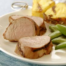 Asian Grilled Pork Tenderloin with Pineapple