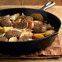 Braised Pork Medallions with Apples