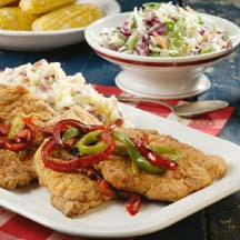 Country-Fried Pork & Peppers