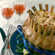Crown Roast of Pork with Rice d'Orange