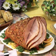 Glazed Ham with Pecan Crust