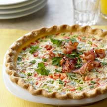 Goat Cheese, Pepper and Bacon Tart