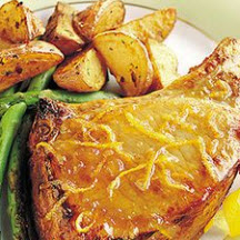 Orange-Marmalade Sirloin Chops