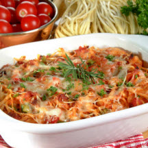 Linguine Bacon and Tomato Casserole