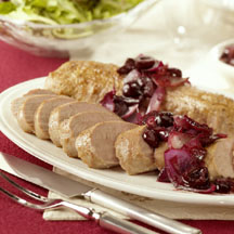 Pan-Seared Pork Tenderloin with Spicy Sweet Cherry-Onion Jam
