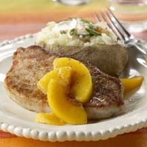 Spicy Peach Pork Chops