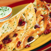 Elegant Turkey, Cranberry and Brie Quesadillas
