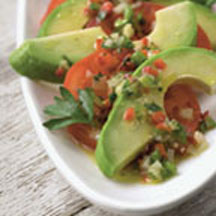 Avocado & Tomato Salad with Confetti Vinaigrette