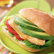 Avocado and Chicken Tortas