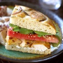 Chicken, Boursin and Watermelon Sandwich