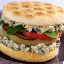 Eggplant Sandwich with White Bean and Gorgonzola Spread