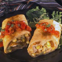 Garden-Style Chicken Chimichangas