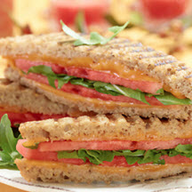 Grilled Cheese, Watermelon and Arugula Sandwich