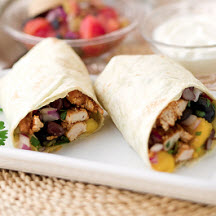Mango Chipotle Chicken Burrito