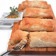 Peachy Chicken Phyllo Pockets