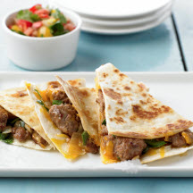 Spicy Pork Quesadillas