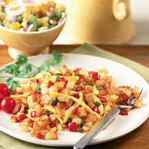 Crispy Southwest Home Fries with Fresh Fruit Salsa