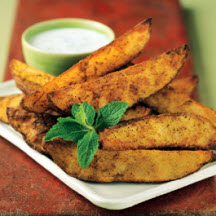 Curry Roasted Idaho Potato Wedges with Raita