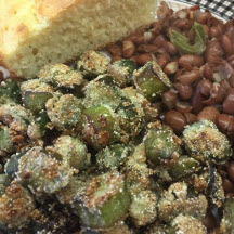 Fried Frozen Okra