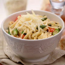 Linguine with Fresh Tomatoes and Asparagus