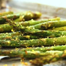 Roasted Asparagus with Pesto & Lemon