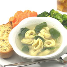 Spinach and Tortellini en Brodo